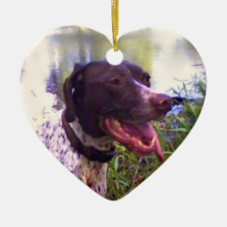 Happy German Shorthaired Pointer Ornament