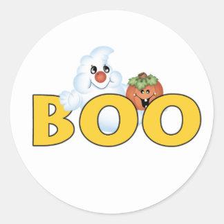 Happy Ghost Boo Classic Round Sticker