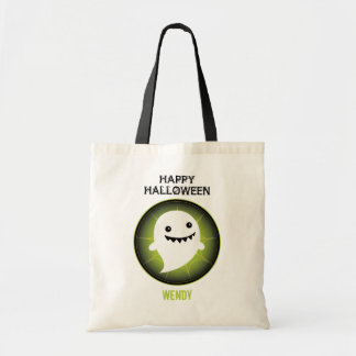 Happy Ghost Halloween Budget Tote Bag