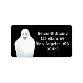 Happy Ghost Halloween Label