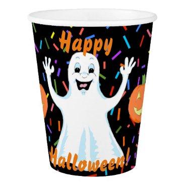 Happy Ghost Halloween Paper Cups