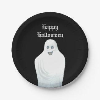 Happy Ghost Halloween Paper Plate