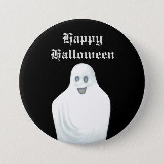 Happy Ghost Halloween Pinback Button