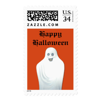 Happy Ghost Halloween Postage