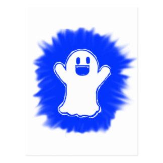 Happy ghost postcard