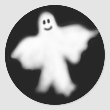 Halloween Themed Happy Ghost Sticker
