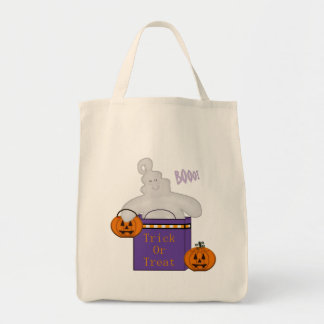 Happy Ghost Trick or Treat Bag