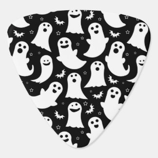 Happy Ghosts Pattern Guitar Pick