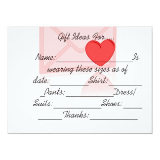 HAPPY GIFTING IDEAS 6.5X8.75 PAPER INVITATION CARD