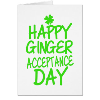 Happy Ginger Acceptance Day Card