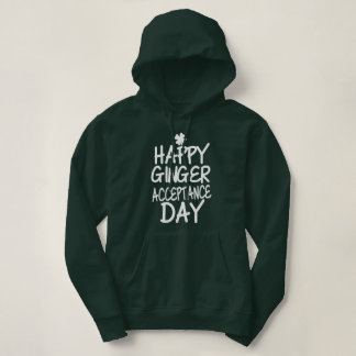 Happy Ginger Acceptance Day Green Hoodie