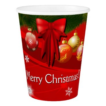 Beach Themed Happy Gingerbread Cookies' Christmas Party Paper Cup