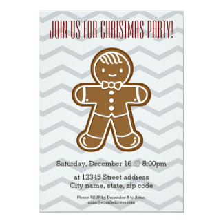 Happy Gingerbread man cookie bow tie Card
