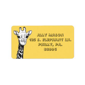 Happy Giraffe Address Labels