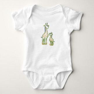 Happy Giraffe And Baby Baby Bodysuit