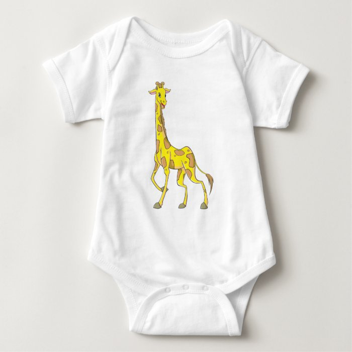 Happy Giraffe Baby Bodysuit