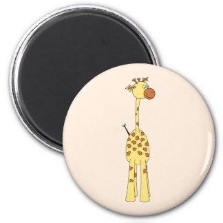 Happy Giraffe. Cartoon Magnet