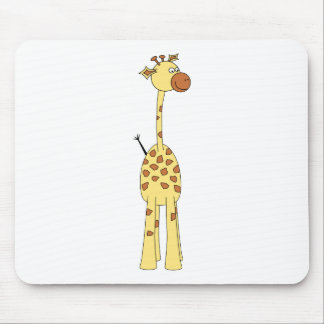 Happy Giraffe. Cartoon Mouse Pad