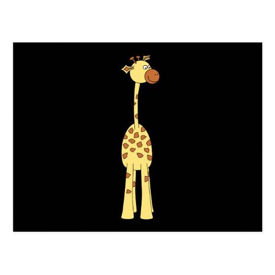 Happy Giraffe. Cartoon Postcard