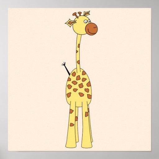 Happy Giraffe. Cartoon Poster