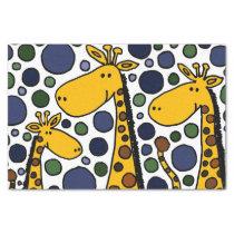 Happy Giraffe Family Abstract Tissue Paper