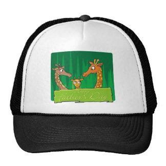 Happy Giraffe Family Father's Day Trucker Hat