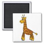 Happy Giraffe Fridge Magnet