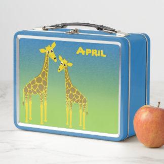 Happy Giraffe Herd lunch box