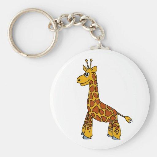 Happy Giraffe Keychain