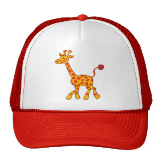 Happy Giraffe Spotted with Hearts Trucker Hat