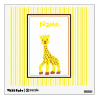 Happy Giraffe Wall Decal