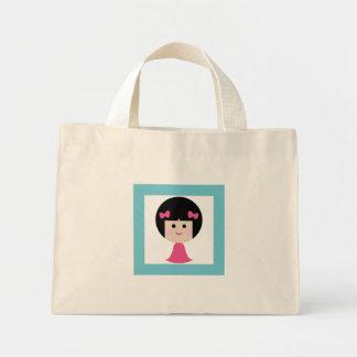 happy girl 5 mini tote bag