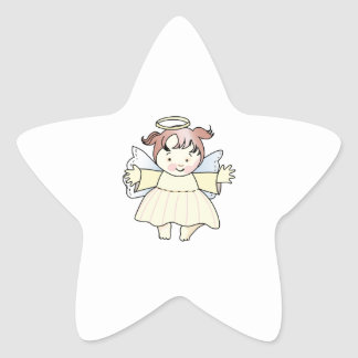HAPPY GIRL ANGEL STAR STICKER