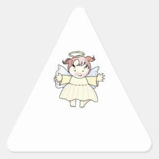 HAPPY GIRL ANGEL TRIANGLE STICKER