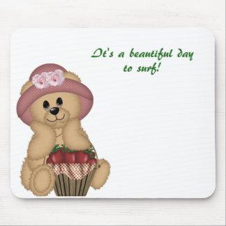 Happy Girl Bear Mouse Pad