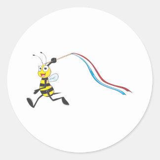 Happy Girl Bee Sticker
