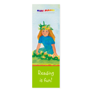 Happy Girl bookmark for young books lovers! Mini Business Card