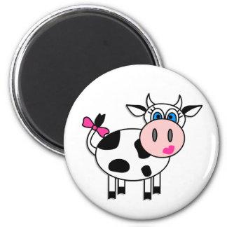 Happy Girl Cow Fridge Magnet