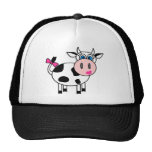 Happy Girl Cow Trucker Hat