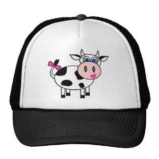 Happy Girl Cow Trucker Hat