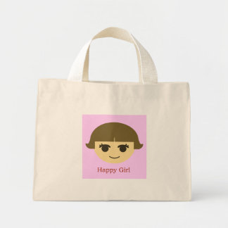 Happy Girl Handbag Mini Tote Bag