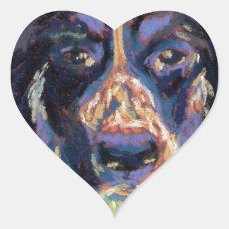 Happy Girl Heart Sticker