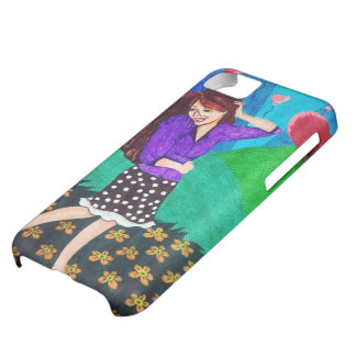 Happy Girl In Love In A Garden Cover For iPhone 5C