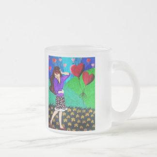Happy Girl In Love In A Garden Mugs