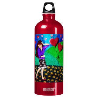 Happy Girl In Love In A Garden SIGG Traveler 1.0L Water Bottle
