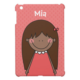 Happy Girl / Long Hair Cover For The iPad Mini