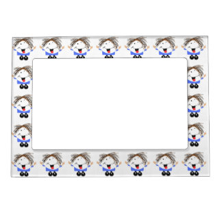 Happy girl magnetic picture frame