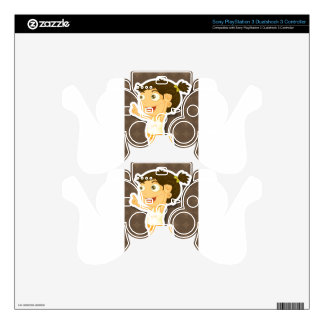 Happy girl PS3 controller decal