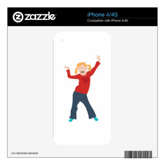 Happy Girl Skin For The iPhone 4S