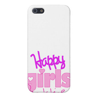 Happy Girls are the Prettiest for iPhone 4 Case For iPhone SE/5/5s